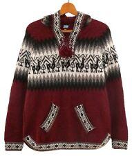 Alpaka Pullover rot weinrot, XS-S 34*36/ Kinder 152-158, Inka Peru Alpaca Wolle