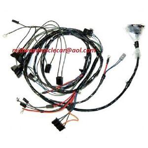 forward front end light lamp wiring harness V8 69 Pontiac Firebird trans am t/a