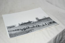 """Large 10""""x12"""" Trinity Mirror Horse Racing Press Photo Crowd and Stands"""