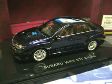 SUBARU Impreza Limousine WRX Sti A Line darkb blue blau Ebbro 1:43