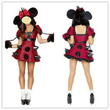New Fashion Minnie Mouse Ladies Women Fancy Dress Costume Size 8-10