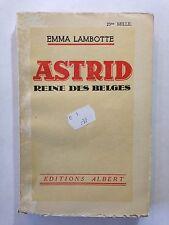 ASTRID REINE DES BELGES 1936 EMMA LAMBOTTE BELGIQUE
