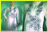 Wholesale Lot of 10, Hand Embroidered, ChikanKari Cotton Women Kurti Top Tunics
