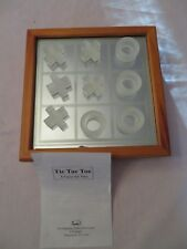 Tic Tac Toe Crystal, With Mirrored Board Wood Chest By Studio Silversmiths NEW