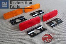 70-73 Camaro Side Marker Lamp Light Lens Kit Correct SAE Guide Markings Set of 4