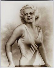 "JEAN HARLOW~BEAUTIFUL MOVIE ACTRESS~LARGE 11""x14"" PUBLICITY PORTRAIT SEPIA PHOTO"