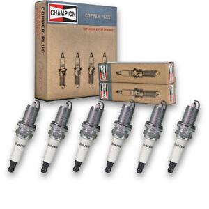 6 pc Champion Copper Plus Spark Plugs for 2005-2010 Jeep Grand Cherokee 3.7L pt