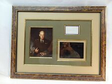 DWIGHT EISENHOWER FRAMED MEM,.PORTRAIT,SIGNATURE