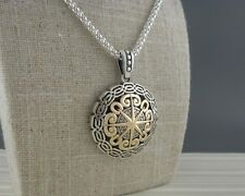 Sterling Silver & 10K Celtic Compass Pendant KEITH JACK Jewelry