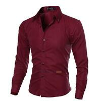 Fashion Men's Slim Fit Button Down Shirt Long Sleeve Dress Shirts Casual Shirts