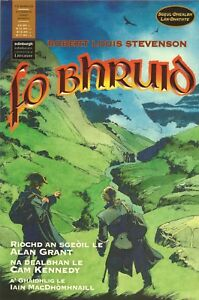 Fo Bhruid graphic novel and paperback Scots Gaelic (Kidnapped RL Stevenson)