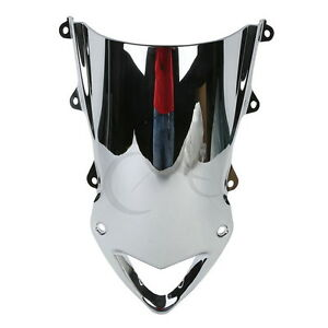 Chrome Bubble Windshield Windscreen For BMW S1000RR 09-14 10 11 12 13
