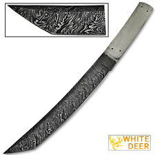 Traditional Tanto Damascus High Carbon Steel Japanese Blank Blade Knife