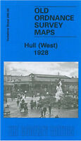 OLD ORDNANCE SURVEY MAP HULL WEST 1928 SPRING BANK ANLABY ROAD PARAGON SQUARE