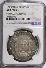 1764 MF Mexico SPANISH COLONY 8 Reales KM# 105 Silver Coin NGC AU Details RARE
