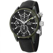 Maurice Lacriox Men's Pontos S Extreme Black Leather Strap Watch PT6028-ALB21331