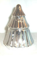 Yankee Candle Ceramic SILVER TREE Votive Holder With Christmas Wreath Votive
