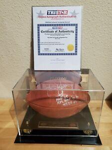 STEVE YOUNG AUTOGRAPH SIGNED INSCRIBED MVP HOF #8/8 NFL WILSON FOOTBALL TRISTAR