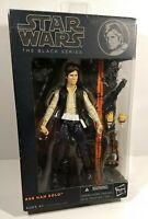 """HAN SOLO Star Wars The Black Series 6"""" Figure #08 Orange Line 2013 -Worn Package"""