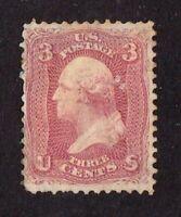 United States stamp #65, MH, some paper on back, very crisp, SCV $125.00