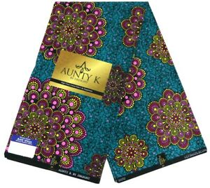 OrangeWhiteBlue Wax Print,100/% Cotton African Wax Print Fabrics,Ankara Print,Kitenge Wax Print,Wrapper Print sell by 6 yards High Quality