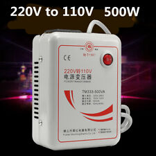 AC 220v To 110v 50/60Hz 500w Step Down Voltage Converter Transformer