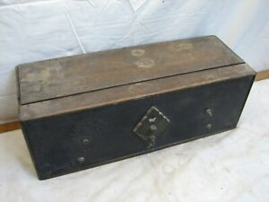 Antique Paramount Tube Compact Radio Receiver Wood Box Wooden Case