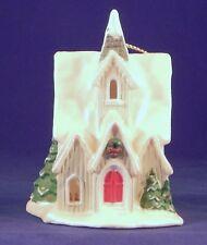 Avon Light Cover Church Ornament Snow Frost Falls Victorian Village Collection