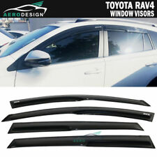 For 13-18 Toyota RAV4 XU50 Smoked JDM Wind Deflectors Window Visor W/Sticker