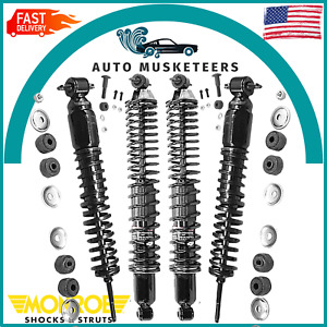 Front & Rear Shock Absorbers Kit Monroe Load Adjusting For Chevy Impala Caprice