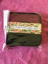 Burgundy 40 Pocket CD Holder With Zipper Case For Home And Auto Car BRAND NEW!!!