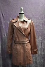 Adler Collection Women's Pink Leather Trench Coat Size L