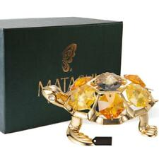 24K Gold Plated Crystal Studded Tortoise Ornament by Matashi