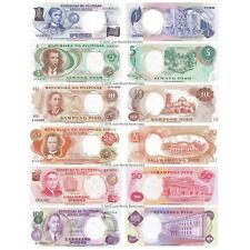 More details for philippines 1 + 5 + 10 + 20 + 50 + 100 piso 1969 set of 6 banknotes 6 pcs unc
