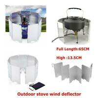 9 Plates Foldable Outdoor Camping Cooker Cooking Gas Stove Wind Shield New R0U7