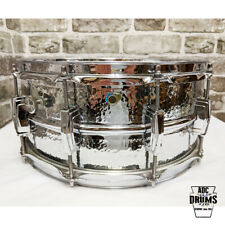 """Vintage Circa 1982 Ludwig 14"""" x 6.5"""" Hammered 402 Supraphonic Snare Drum (LM402)"""