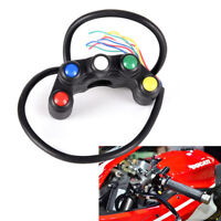 """5Button Motorcycle Switch Button 7/8"""" Handlebar/Light /on-off Button Waterpro LL"""