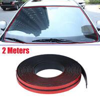 2M Car Waterproof Rubber Seal Strip Weatherstrip for Car Windshield Window Roof