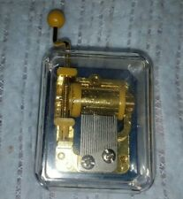 Hand Crank Hurdy Gurdy Clear Music Box Song Its  A Small World