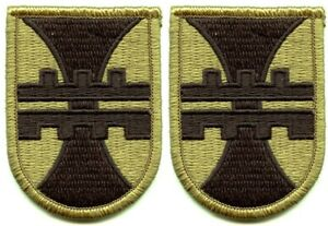 2 Pack US Army Engineer Construction Cmd OCP Scorpion Hook Back Military Patches