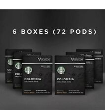Starbucks Verismo Colombia Brewed Coffee Single-Serve Verismo 72 Pod BB 05/2021
