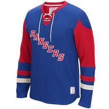 New York Rangers MENS CCM Long Sleeve Jersey Crew Pullover Sweatshirt M-4XL