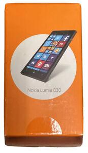 Microsoft Nokia Lumia 830 4G LTE Black AT&T Smartphone Empty Box Only 2015 Relea