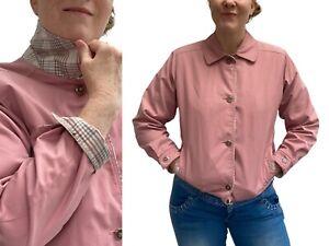 Vintage Anorak Jacket 10 12 Coat Pink Retro 90s Y2K Peter Pan Minimalist Pastel
