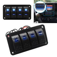 4 Gang Rocker Switch Panel LED Head Fog Light Car Caravan Marine Boat ATV 12/24V