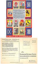 C624)  CARTOLINA CONCORSO DECENNALE FRANCOBOLLO ANTITUBERCOLARE 1931/1940.