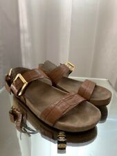 Womens Michael Kors Gold Plate  Ankle Strap Sandals - Bronze/Brown Size 7.5