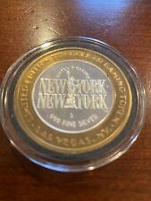 Limited edition Las Vegas Gaming Token New York New York Hotel .999 Silver
