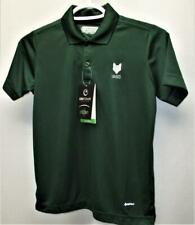 New Youth Boys Small On Tour Web Tech 100 golf polyester polo shirt green
