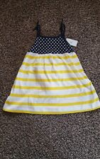 babygap kids dress 2 years new with tags polka dot stripes yellow white blue